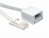 2m BT Extension Cable - Flat Cable (White) - 6 Way